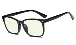 Blue Light Filter Computer Glasses for Women Black Frame
