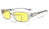 Computer Reading Glasses Anti Blue Light Yellow Tinted Lens for Electronic User Tortoise CGXM03
