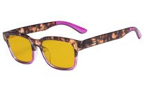 Stylish Computer Reading Glasses with 80% Blue Blocking Visible Coating Tortoise Purple CGT1802