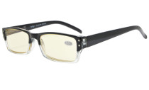 Computer Reading Glasses UV Tinted Lens Two-Tone Color Black Transparent CG012