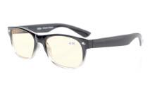 Computer Reading Glasses Classic UV Tinted Lens Black Transparent CG011