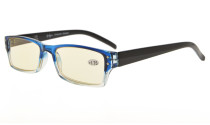 Computer Reading Glasses UV Tinted Lens Two-Tone Color Blue Transparent CG012