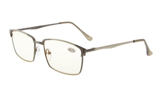 Computer Reading Glasses UV Metal Frame Spring Hinge Readers Women Men CG15045