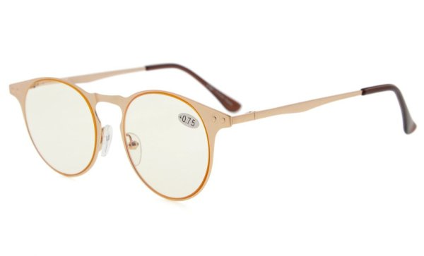 Computer Reading Glasses Metal Round Frame 100% UV CG15033