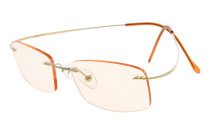 Computer Reading Glasses UV Titanium Rimless Stylish Readers Gold CG1508