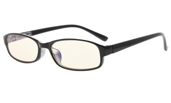 Computer Reading Glasses UV Anti Glare Anti-reflective Tinted Lens for Women Black CG908K