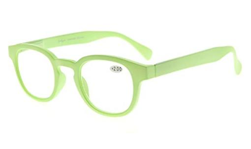 Reading Glasses UV Anti Reflective Coating Candy Color Frame with Spring Hinge Light-Green TMCG124