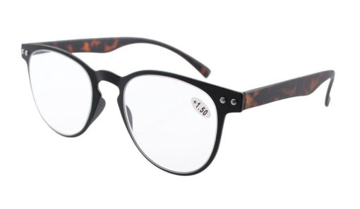 Reading Glasses Quality TR-90 Flexable Frame Women Men Black Frame Tortoise Arm R060