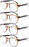 Reading Glasses 4-Pack Quality TR-90 Flexable Frame Amber R060-4pcs
