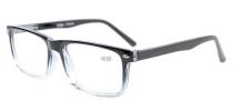 Spring Hinges Reading Glasses For Men Women Black-Clear R899-6