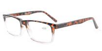 Spring Hinges Reading Glasses For Men Women Tortoiseshell-Clear R899-6