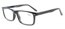Spring Hinges Reading Glasses For Men Women Black R899-6