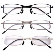 3 Pcs Mix Unique Lightweight Stainless Steel Frame Cheap Reading Glasses For Men and Women R12005-Mix