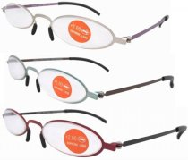 Stainless Steel Double Color Frame Reading Glasses R12002-Mix-3pcs