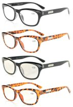 4-Pack Reading Glasses Included 2 Computer Glasses R120-Mix-4pcs