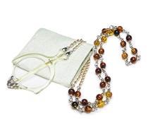 Mini Folding Reading Glasses Pendant Necklace Magnifier Yellow R153