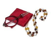 Mini Folding Reading Glasses Pendant Necklace Magnifier Red R153