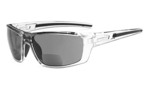 Bifocal Reading Sunglasses for Sports TR90 Clear S066-Bifocal
