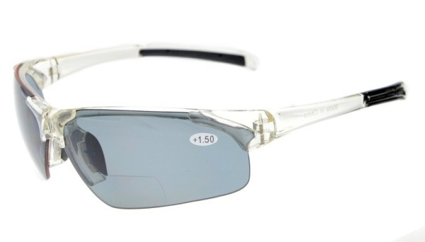 Bifocal Sunglasses UV400 Protection Polarized Lens Quality TR90 Frame Half-rim Clear Frame TH6186PGSG