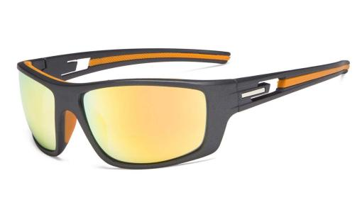 Bifocal Reading Sunglasses for Sports TR90 Orange Mirror S066-Bifocal