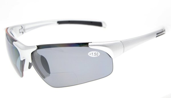 Bifocal Sunglasses UV400 Protection Polarized Lens Quality TR90 Frame Half-rim Silver Frame TH6186PGSG