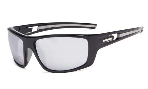 Bifocal Reading Sunglasses for Sports TR90 Silver Mirror S066-Bifocal