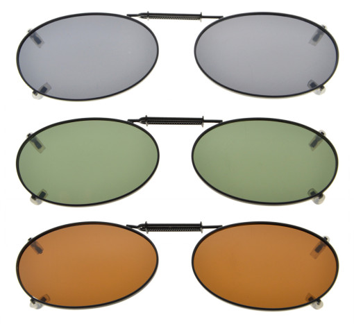 3-Pack Clip-on Polarized Sunglasses 1 11/16×1 3/16 inch (43x30MM) C74-3pcs-Mix