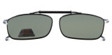 Metal Frame Rim Polarized Lens Clip On Sunglasses 2 1/16 x4 1/2 inch  (52×33 MM) G15 C63