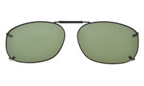 Metal Frame Rim Polarized Lens Clip On Sunglasses 2 1/8 x1 7/16 inch (54×37MM) G15 C67