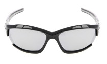 Sunglasses Polarized Polycarbonate TR90 Unbreakable Sport Black/Silver Mirror TH7007