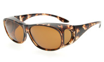 Sunglasses Polarized Fitover for Prescription Glasses Retro Style Light-Brown-DEMI S029