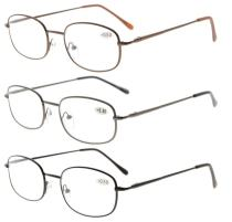 3pcs Mix Metal Frame Spring Hinged Arms Reading Glasses R3232-3pcs-Mix