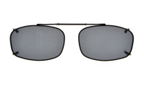 Metal Frame Rim Polarized Lens Clip On Sunglasses 2 1/8 x1 5/16 inch (54×34MM) Grey C65