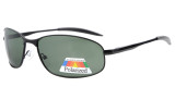 Sunglasses Polarized Metal Frame Fishing Golf Cycling Flying Outdoor Black S15003-Polarized