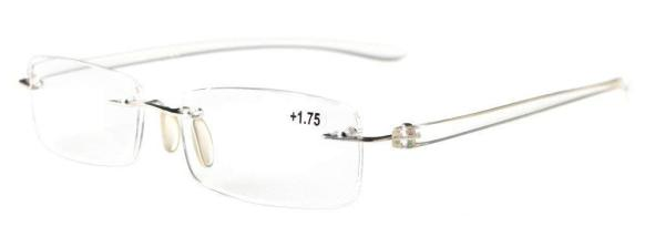 Reading Glasses Small Lenses Rimless Readers Transparent Arm R14001