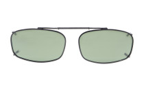 Metal Frame Polarized Lens Clip On Sunglasses 2 x1 1/4 inch (52×32 MM) G15 C62