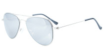 Stainless Steel Frame Pilot Kids Children Sunglasses Silver-Silver Mirror S15017