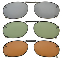 3-pack Clip-on Polarized Sunglasses 2 1/16×1 3/8 inch (52x35MM) C73-3pcs-Mix