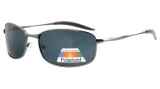 Sunglasses Polarized Metal Frame Fishing Golf Cycling Flying Outdoor Gunmetal S15006-Polarized