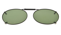 Metal Frame Rim Polarized Lens Clip On Sunglasses 1 11/16×1 3/16 inch (43x30MM) G15 C74
