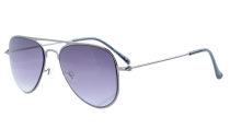 Stainless Steel Frame Pilot Kids Children Sunglasses Gunmetal-Grey Lens S15017