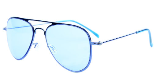 Stainless Steel Frame Pilot Kids Children Sunglasses Blue Lens S15017