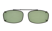 Metal Frame Rim Polarized Lens Clip On Sunglasses 2 1/8 x1 5/16 inch (54×34MM) G15 C65