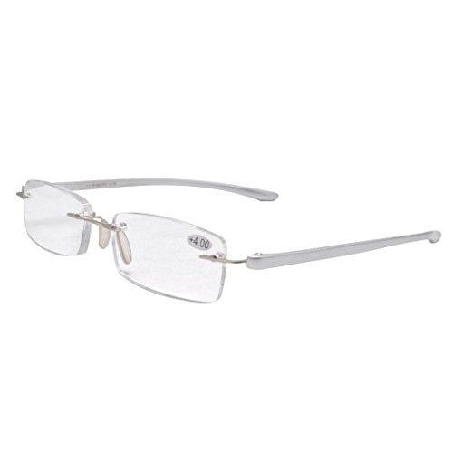 dfaad1b75f1 Reading Glasses Small Lenses Rimless Readers Silver R14001 Item NO   R14001-Silver