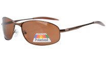Sunglasses Polarized Metal Frame Fishing Golf Cycling Flying Outdoor Brown S15003-Polarized