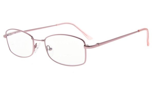 Reading Glasses With Memory Bendable Bridge Women Pink R1712