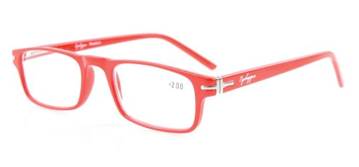 Reading Glasses Metal Frame Spring Hinges Crystal Clear Vision Readers Red RID30315