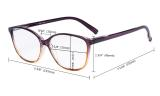 Ladies Reading Glasses 5 Pack Large Cat-eye Stylish Readers Women 5pcs-Mix RFH2