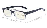 Computer Glasses UV Anti Glare/Blue Rays Readers Black-Light-Lens UVR032
