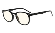 Computer Glasses UV Tinted Lenses Vintage for Women and Men Black CG065